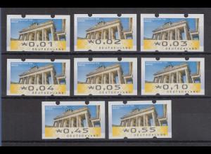 Deutschland ATM Mi-Nr. 6 Berlin Restwert-Satz 8 Werte 0,01-0,55 **