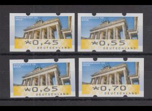 Deutschland ATM Mi-Nr. 6 Berlin Porto-Satz 4 Werte 0,45-0,55-0,65-0,70 **