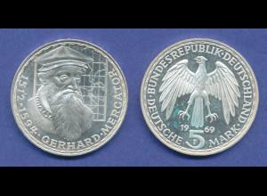 Bundesrepublik 5DM Silber-Gedenkmünze 1969, Gerhard Mercator