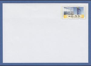 Deutschland Ganzsache mit Wertstempel wie ATM Mi.-Nr. 7 zu 0,55 Euro