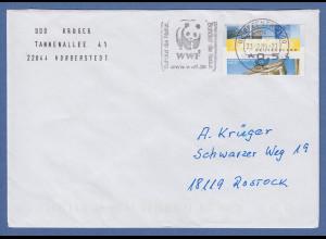 Deutschland-ATM Posttower/Brandenburger Tor 0,55 total verschnitten auf Brief