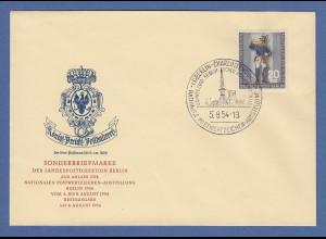 Berlin 1954 Postillon Mi.-Nr. 120 auf amtlichem FDC