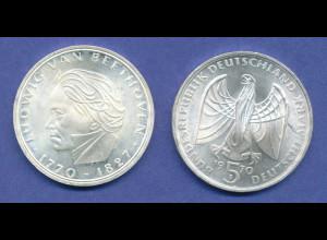Bundesrepublik 5DM Silber-Gedenkmünze 1970, Ludwig van Beethoven