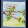 Kambodscha / Cambodge 1989 Mi.-Nr. Block 164 Papagei **