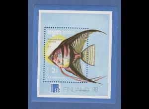 Kambodscha / Cambodge 1988 Mi.-Nr. Block 161 Fisch Segelflosser **