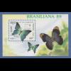 Kambodscha / Cambodge 1989 Mi.-Nr. Block 170 Schmetterling **