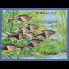 Kambodscha / Cambodge 1997 Mi.-Nr. Block 233 Fisch Keilfleckbärbling **