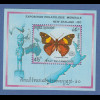Kambodscha / Cambodge 1990 Mi.-Nr. Block 176 Schmetterling **