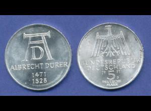 Bundesrepublik 5DM Silber-Gedenkmünze 1971, Albrecht Dürer