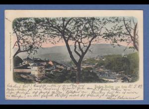 AK Baden-Baden vom Echo G. Wild's Hofbuchhandlung gelaufen 1903 nach Pasing