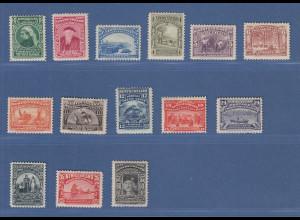Kanada Neufundland 1897 Sondermarken-Serie Mi.-Nr. 44-57 kpl. ungebraucht *