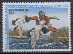 "USA 1988 Gebührenmarke ""migratory bird hunting and conversation stamp"" 10$ **"