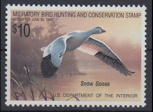 USA 1989 Gebührenmarke migratory bird hunting and conversation stamp 10$ **