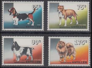 Niederländische Antillen 1994 Hunde Mi.-Nr. 794-797 Satz 4 Werte **