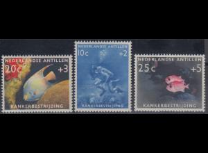 Niederländische Antillen 1960 Krebs-Bekämpfung Mi.-Nr. 110-112 Satz 3 Werte **