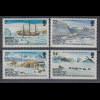 Britische Antarktis 1985 Graham-Expedition Mi.-Nr. 124-127 Satz 4 Werte **