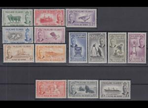 Falkland-Inseln 1952 Freimarken Mi.-Nr. 102-115 Satz 14 Werte kpl. **