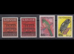 Suriname 1987 u.a. Vögel Mi.-Nr. 1201-1204 Satz 4 Werte **