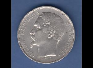 Münze Frankreich 5 Francs silber 1852 A Napoleon III. (1852-1870) sehr schön