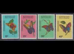 Niederländische Antillen 1978 Schmetterlinge Mi.-Nr. 363-66 Satz 4 Werte **