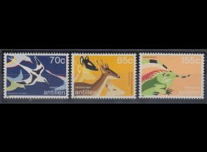 Niederländische Antillen 1987 Tiere Mi.-Nr. 622-24 Satz 3 Werte **