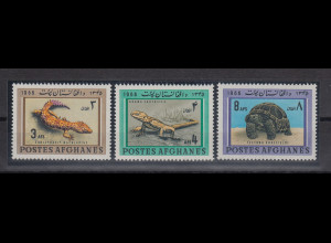 Afghanistan 1966 Tiere Mi.-Nr. 957-59 Satz 3 Werte **
