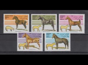 Afghanistan 1996 Pferde Mi.-Nr. 1695-1699 Satz 5 Werte **