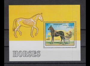 Afghanistan 1996 Pferd Blockausgabe Mi.-Nr. Block 90 **