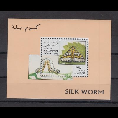 Afghanistan 1996 Raupen und Schmetterlinge Blockausgabe Mi.-Nr. Block 89 **