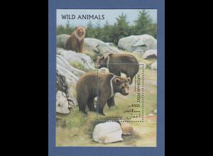 Afghanistan 1996 Bären Blockausgabe Mi.-Nr. Block 87 **