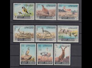Jordanien 1968 Vögel und Bocktiere Mi.-Nr. 682-90 Satz 9 Werte **