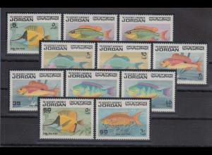 Jordanien 1974 Fische Mi.-Nr. 896-906 Satz 11 Werte **