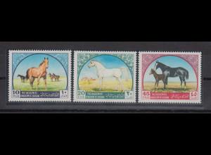 Jordanien 1969 Pferde Mi.-Nr. 698-700 Satz 3 Werte **