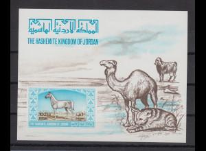 Jordanien 1967 Araber-Pferd Blockausgabe Mi.-Nr. Block 41 **