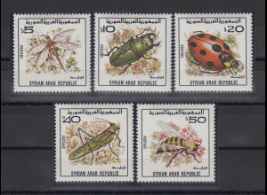 Syrien 1982 Insekten Mi.-Nr. 1558-1562 Satz 5 Werte **