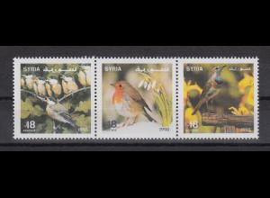Syrien 1995 Vögel Mi.-Nr. 1953-1955 Satz 3 Werte ** Dreierstreifen