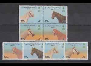 Saudi-Arabien 1990 Pferde Mi.-Nr. 1032-1039 Satz 8 Werte **