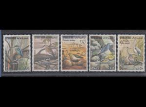 Irak 1976 Vögel Mi.-Nr. 879-83 Satz 5 Werte **