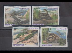 Irak 1982 Reptilien Mi.-Nr. 1161-64 Satz 4 Werte **