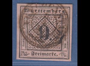 Württemberg 9 Kreuzer rosa Mi.-Nr. 4a gestempelt FREUDENSTADT