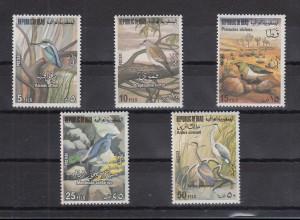 Irak 1976 Vögel Mi.-Nr. 879-83 kpl. Satz 5 Werte **