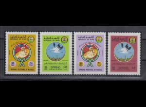Irak 1982 Frühlingsfestival Mosul Störche Mi.-Nr. 1135-38 kpl. Satz 4 Werte **