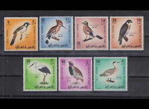 Irak 1968 Vögel Mi.-Nr. 520-26 kpl. Satz 7 Werte **