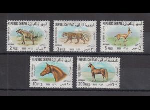 Irak 1969 Pferde Mi.-Nr. 566-70 kpl. Satz 5 Werte **