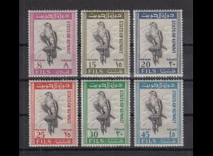 Kuwait 1965 Falke Kurz-Satz Mi.-Nr. 285-90 6 Werte **