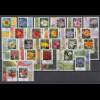 Bund 2005-2014 Blumen Lot 24 versch. Eckrandstücke mit ET-O, dabei hohe Werte