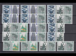 Berlin Sehenswürdigkeiten alle 16 Zusammendrucke W83-W98 kpl. postfrisch **
