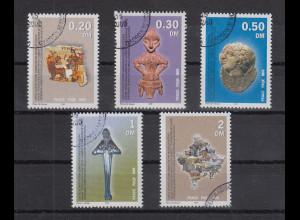 Kosovo 2000 UNMIK-Verwaltung 1. Satz Mi.-Nr. 1-5 in DM-Währung gestempelt