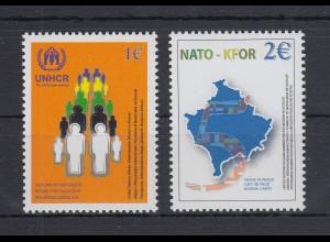 Kosovo 2004 UNHCR / NATO KFOR Mi.-Nr. 18-19 Satz 2 Werte postfrisch **