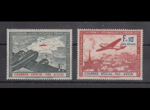 Dt. Besetzung 2.WK, Frankreich Flugpostmarken Mi.-Nr. II und III **